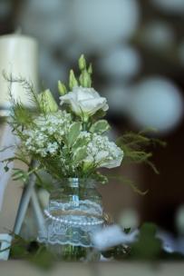 Vintage Vase mit Spitze
