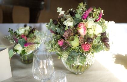 Vintagestrauß mit altrosa Rosen